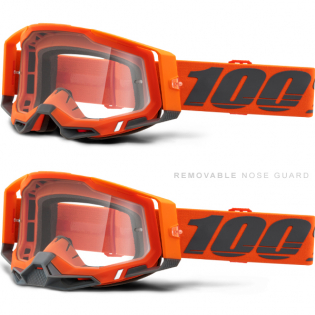 100% Racecraft 2 Kerv Clear Lens Goggles Image 3