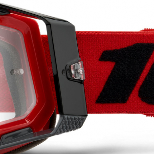 100% Racecraft 2 Red Clear Lens Goggles Image 2