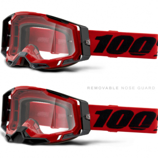 100% Racecraft 2 Red Clear Lens Goggles Image 3