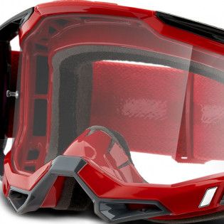 100% Racecraft 2 Red Clear Lens Goggles Image 4