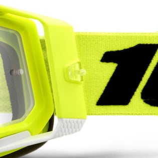 100% Racecraft 2 Yellow Clear Lens Goggles Image 2