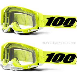 100% Racecraft 2 Yellow Clear Lens Goggles Image 3