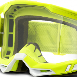 100% Racecraft 2 Yellow Clear Lens Goggles Image 4