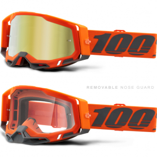 100% Racecraft 2 Kerv Gold Mirror Lens Goggles Image 3