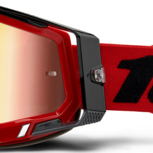 100% Racecraft 2 Red Mirror Lens Goggles Image 2