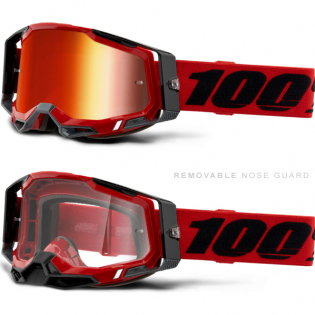 100% Racecraft 2 Red Mirror Lens Goggles Image 3