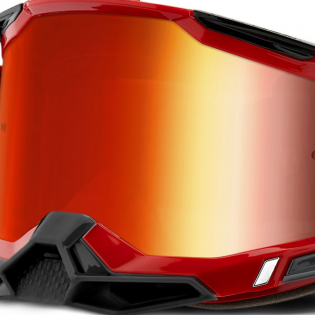 100% Racecraft 2 Red Mirror Lens Goggles Image 4