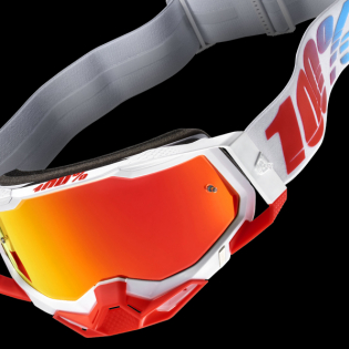 100% Racecraft 2 St-Kith Red Mirror Lens Goggles Image 2