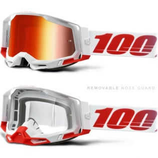 100% Racecraft 2 St-Kith Red Mirror Lens Goggles Image 3