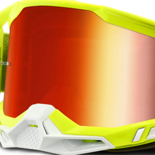 100% Racecraft 2 Yellow Red Mirror Lens Goggles Image 4
