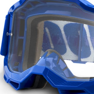 100% Accuri 2 Blue Clear Lens Goggles Image 2