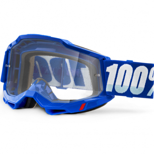 100% Accuri 2 Blue Clear Lens Goggles Image 3