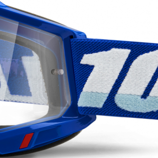 100% Accuri 2 Blue Clear Lens Goggles Image 4