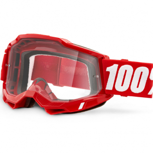 100% Accuri 2 Red Clear Lens Goggles Image 3