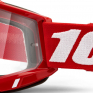 100% Accuri 2 Red Clear Lens Goggles