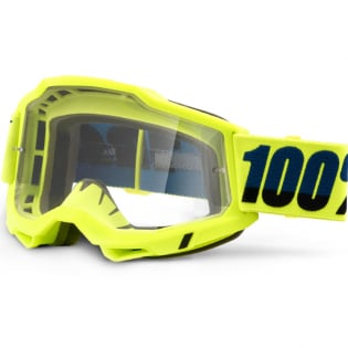 100% Accuri 2 Yellow Clear Lens Goggles Image 3