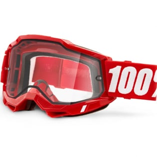 100% Accuri 2 Red Clear Lens Enduro Goggles Image 3