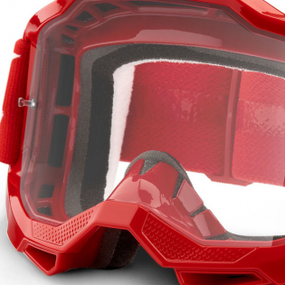 100% Accuri 2 OTG Red Clear Lens Goggles Image 2