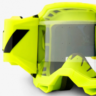 100% Accuri 2 Forecast Fluo Yellow Clear Lens Mud Goggles Image 2