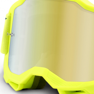 100% Accuri 2 Kids Yellow Gold Mirror Lens Goggles Image 2