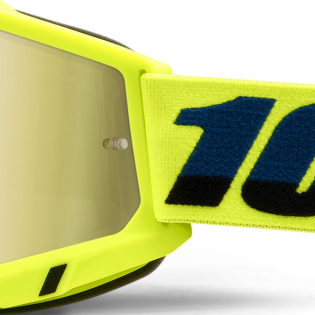 100% Accuri 2 Kids Yellow Gold Mirror Lens Goggles Image 4