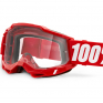 100% Accuri 2 Kids Red Clear Lens Goggles