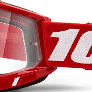 100% Accuri 2 Kids Red Clear Lens Goggles Image 4