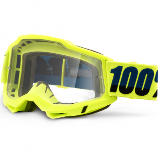 100% Accuri 2 Kids Yellow Clear Lens Goggles Image 3
