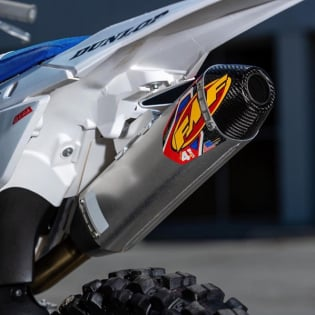 FMF Factory 4.1 Stainless Dual Slip On Silencers Honda CRF Image 2