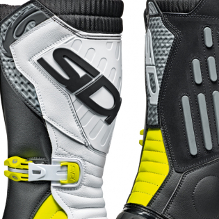 Sidi Zero.2 Black Fluo Yellow White Trials Boots Image 2