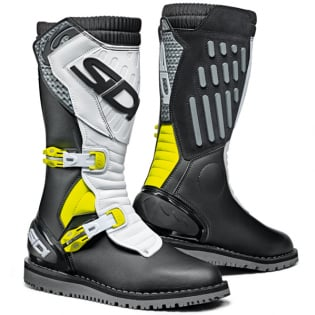 Sidi Zero.2 Black Fluo Yellow White Trials Boots Image 3
