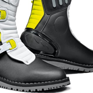 Sidi Zero.2 Black Fluo Yellow White Trials Boots Image 4
