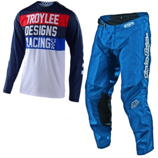 Troy Lee Designs GP Air Continental Navy Blue Jersey Image 2
