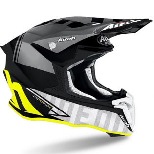 Airoh Twist 2.0 Tech Yellow Matt Helmet Image 2
