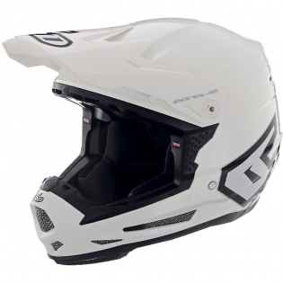 6D ATR-2Y Youth Solid Gloss White Helmet Image 2