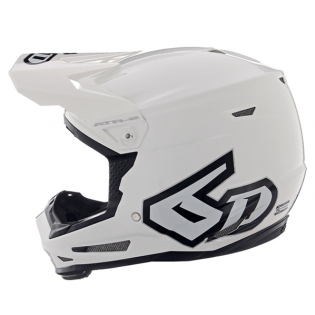 6D ATR-2Y Youth Solid Gloss White Helmet Image 3