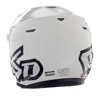 6D ATR-2Y Youth Solid Gloss White Helmet Image 4
