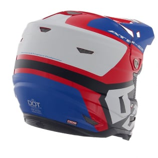 6D ATR-2 Helo Red White Blue Helmet Image 3