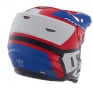 6D ATR-2 Helo Red White Blue Helmet