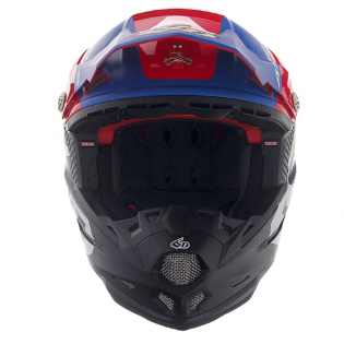 6D ATR-2 Helo Red White Blue Helmet Image 4