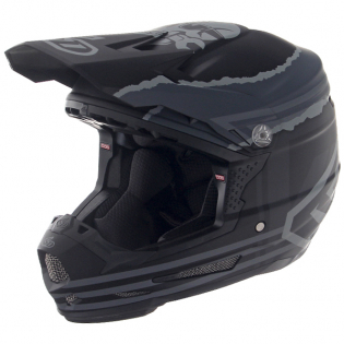 6D ATR-2Y Youth Danger Boy Matte Black Helmet Image 2
