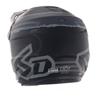 6D ATR-2Y Youth Danger Boy Matte Black Helmet Image 3