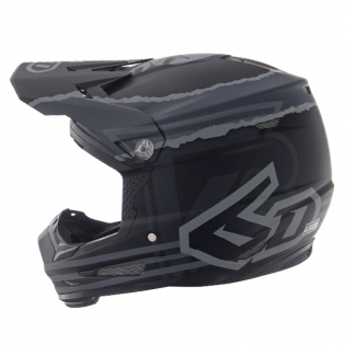 6D ATR-2Y Youth Danger Boy Matte Black Helmet Image 4
