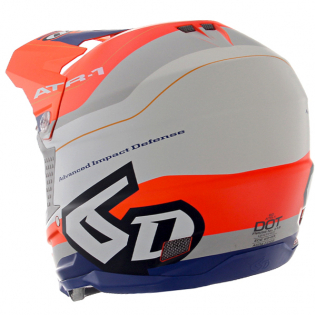 6D ATR-1 Pace Orange Blue Helmet Image 3