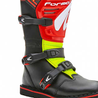 Forma Kids Rock Black Red Fluo Yellow Trials Boots Image 2