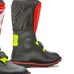 Forma Kids Rock Black Red Fluo Yellow Trials Boots Image 4