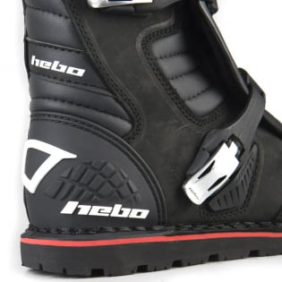 Hebo Tech 2.0 Black Leather Trials Boots Image 3