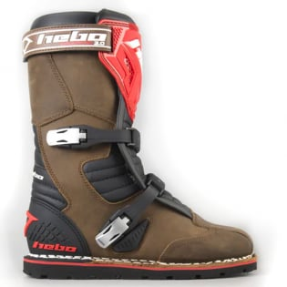 Hebo Tech 2.0 Brown Leather Trials Boots Image 2