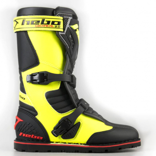 Hebo Tech 2.0 Micro Black Lime Trials Boots Image 2
