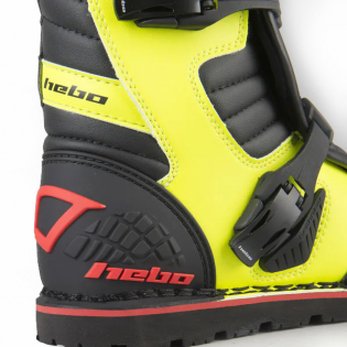 Hebo Tech 2.0 Micro Black Lime Trials Boots Image 3